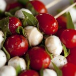 Caprese appetizer on stick
